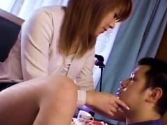 Asian Secretary Is Teasing Her Lovely Boss