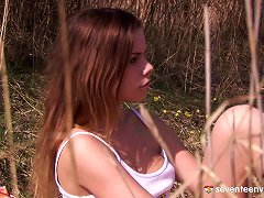 Out In The Woods A Teen Slut Gives Herself A Screaming Orgasm