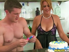 Sexy Milf With  Tan Lines Sucks And Fucks With Younger Dude