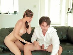 Pretty Teen Sucks On Boss's Cock Ahead Of A Fascinating Office Sex