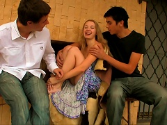 Andrea Rwally Loves To Swallow Sperm Of Koloman And Kornel