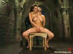 Bondage Castle Gets Two Horny Lesbians To Visit!
