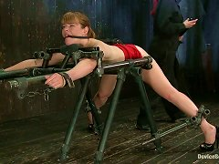Poor Blonde Gets Tortured With Clothespins And Hot Wax