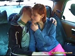 Redhead Big Natural Breast Teen Loves Backseat Fuck In A Public Taxi Car