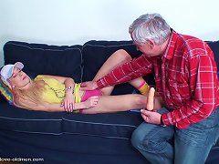 Grandpa Turns On The College Coed And Fucks Her