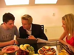 Blonde Teen And Horny Twink  A  In A Hot  Threesome