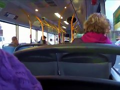 Getting Blowjob By Two Girls On Public Bus