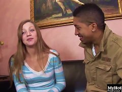 Interracial Humping For One Of The Prettiest White Teens