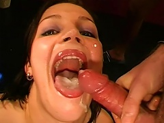 Young Sandra Is Eager To Swallow