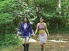 Immaculate Amateur Lesbian Babes Enjoying A Hot Pussy Licking Session Outdoors