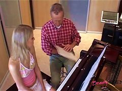Old Piano Teacher Pounds His Dick Into Her Teen Pussy