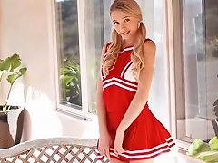 Masturbating Teen 9 Blonde Cheerleader