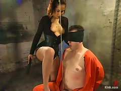 In Bondage Attire Black Is For The Master, And Orange For The Victim!