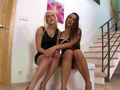 Two Smoking-hot Dykes Rim And Toy Fuck Each Others' Assholes To Orgasm