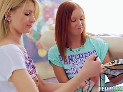 Redhead Shows Her Hot Blonde Friend How To Use A Sex Toy