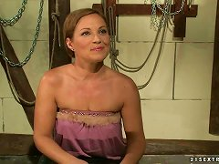 Mandy Bright Tiesszilvia Lauren Up And Slams Her Vag With A Dildo