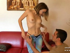 1st Time Anal Casting Couch Of A Pretty French Teen Creamed
