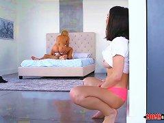 Masturbating While Watching Mom Get Fucked