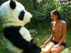 Panda Bear Fucks Teen In The Tight Cunt