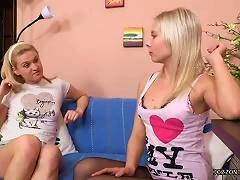 Nerd Blown By Blonde Teen Girls