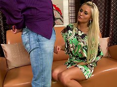 Awesome Blonde Laura Crystal Gives A Stunning Deepthroat Blowjob