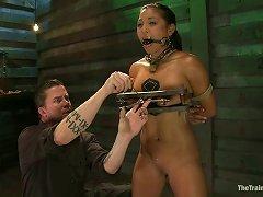 Hot Latina Adrianna Luna Toyed In Extreme Bondage Session