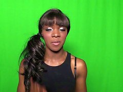Ebony Bitch Ana Foxxx Shows Her Natural Tits In Backstage Clip