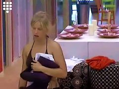 Big Brother Nl Blonde Teen Strips After  Nude Shower