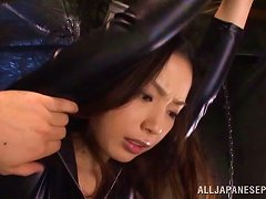 Asian Bombshell Brunette Gets Stimulated With A Vibe Before Fucked.