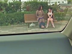 Asian Teens Sitting On The Bench And Flashing Panty Upskirts Upornia Com