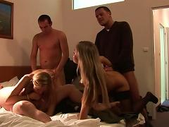 Beauty Blonde Tanja Swallows Sperm In The