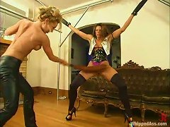 Sexy Brown-haired Girl Gets Whipped And Humiliated