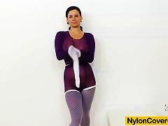 Petite Teen Nylon  And Huge