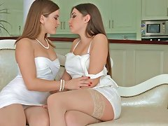 Passionate Lesbian Sex With Evalina Darling And Diana Dolce On Sapphic Erotica