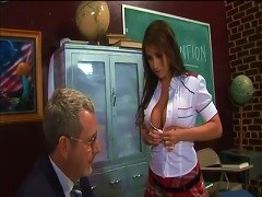 Schoolgirl Fell In Love With A Hunky Old Teacher