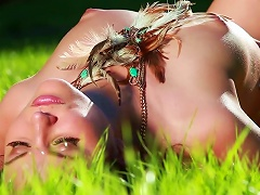 Superb Teen Likes It In The Nature