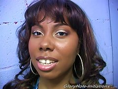 Ebony Model With Big Tits Gets Facial Cumshot After Nice Blowjob In Gloryhole