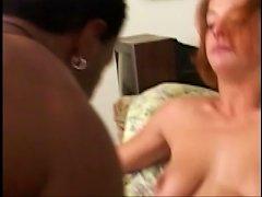 White Slut Rocking Black Dick