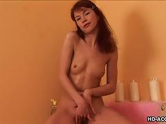 Kinky Redhead Teen With Tiny Tits Using Hot Wax