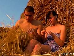 Nice Teen & Naughty  Dude On A Farm