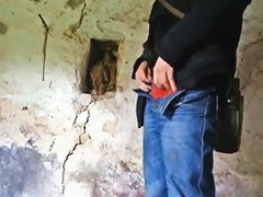 Fucking A Bottle In Abandoned House