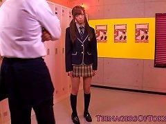 Dicksucking CFNM Japanese Teen Bukkaked