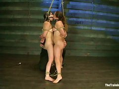 Crazy Domination And Bondage Fun With Alexxa Bound And Juliette March