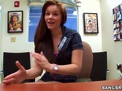 Hot Redhead Teen Gets Naked At A Job Interview
