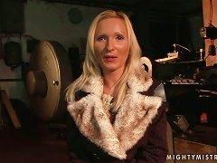 Angela Gets Tortured By Sabrina Sweet Ane Enjoys A Big Toy In Her Vag