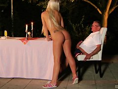 Fit Grandpa Plants His Cock Into A Hot Blonde Teen Pussy