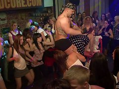 At A Male Strip Show These Women Attack The Dancer's Cocks