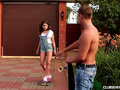 Outdoors Seduction Prepares The Russian Teen For The Wild Pounding