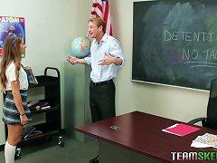 Willing Teen Babe Pleasing Her Professor For A Better Grade