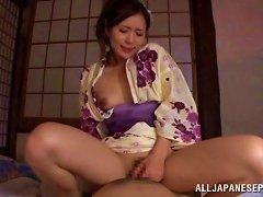 Luscious Japanese Wife Sucks Her Hubby's Throbbing Cum Gun